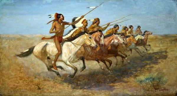 Charge Indian Horses