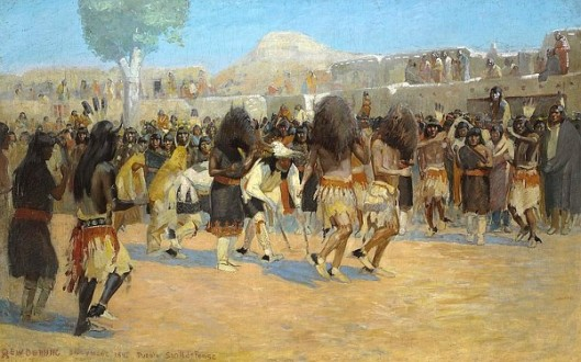 Dance At San Ildefonso Pueblo, New Mexico
