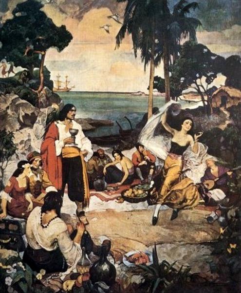 Pirates Picnic Ashore