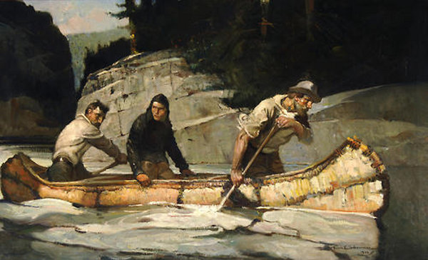 As The Canoe Swept By