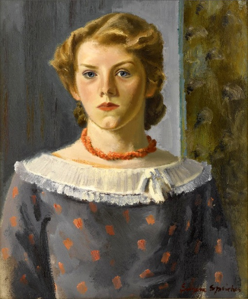 Girl In A Coral Necklace