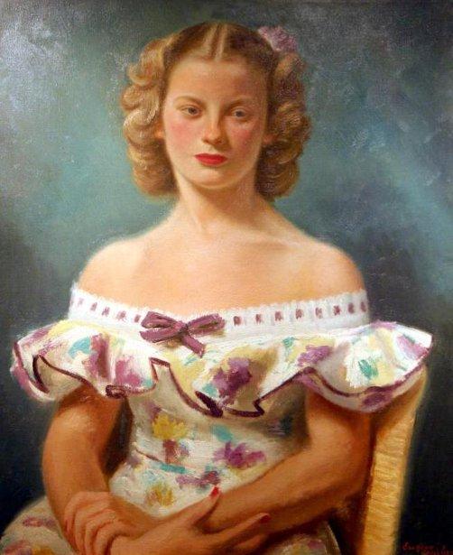Girl In Flowered Dress