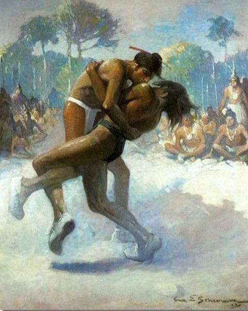 Indians Wrestling