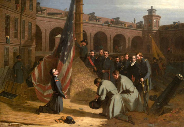 Major Anderson Raising The Flag On The Morning Of His Taking Possession Of Fort Sumter, Dec. 27 1860