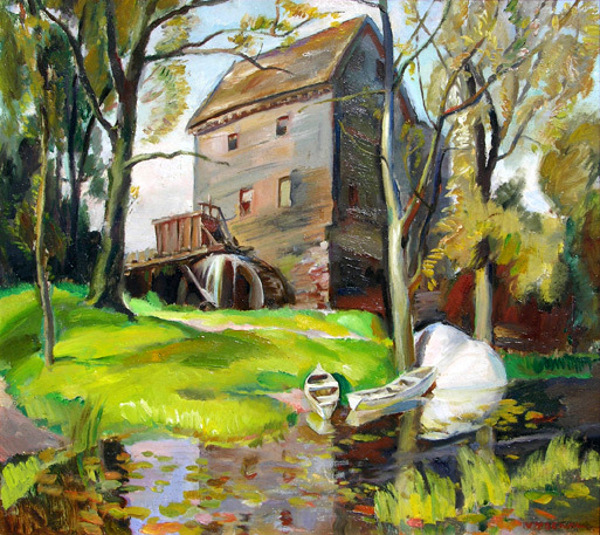 Old Mill By The Pond