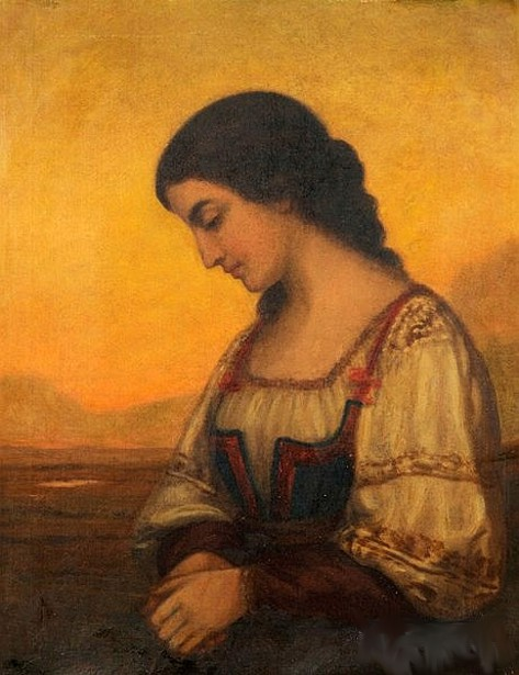 Profile Of A Peasant Girl