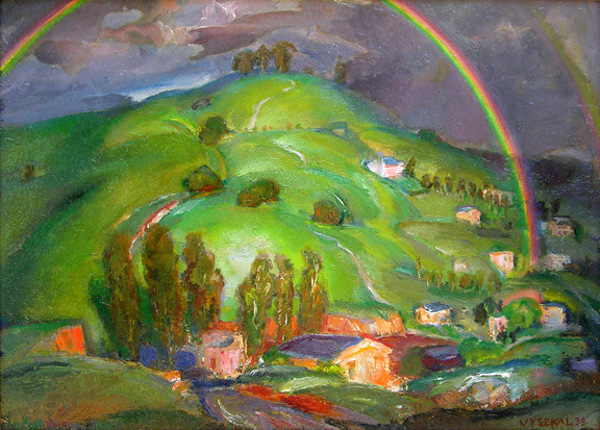 Rainbow And Green Hills