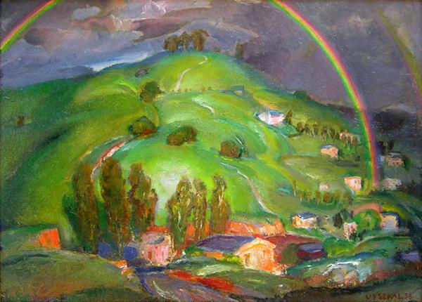 Rainbow And Green Hills