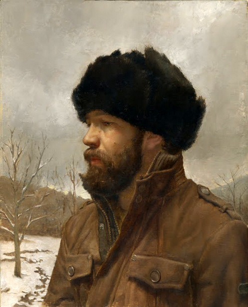 Self-Portrait in Russian Hat