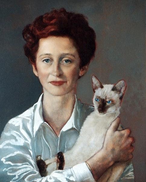 Tanneke Moonen With Cat