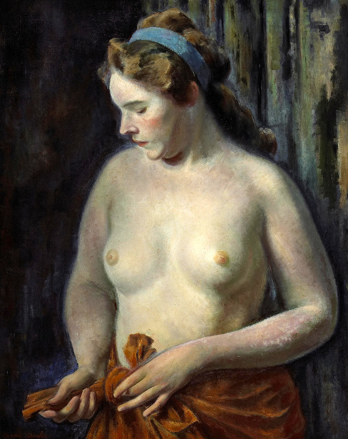 Torse - A Woman Tying Her Skirt
