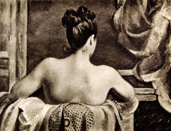 Woman Back In Bathtub