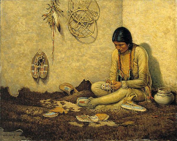 A Moccasin Maker