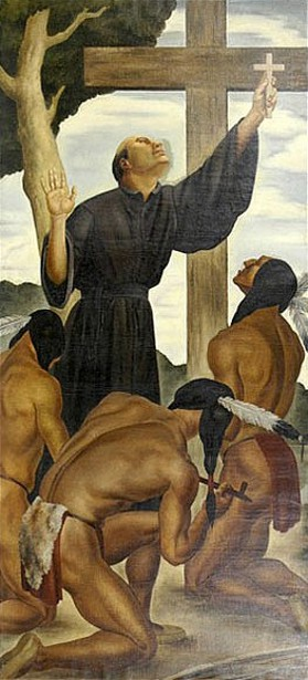 Father Jacques Marquette Amongst The Indians