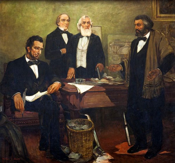 Frederick Douglass Appealing To President Lincoln To Enlist Negroes