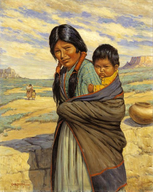 Hopi Mother And Child
