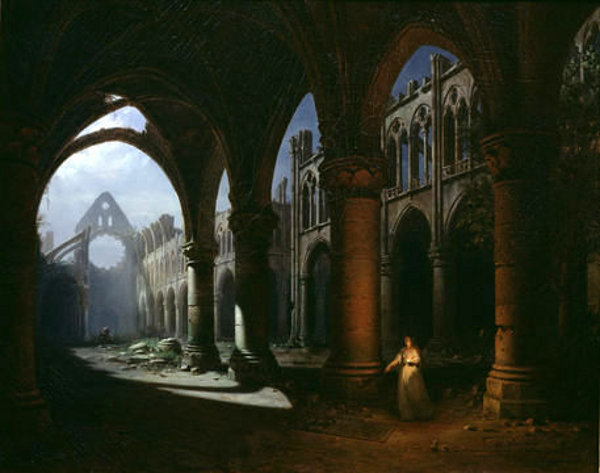 Interior Of Longpont Abbey In Ruins