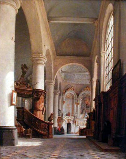 Interior Of Saint Denis in Saint-Omer