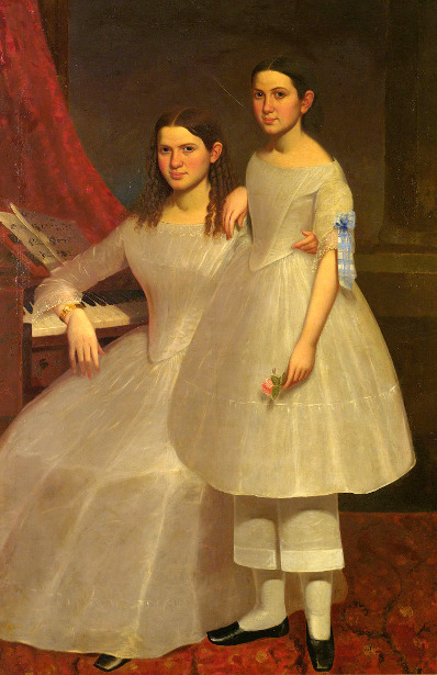 Two Young Sisters At The Pianoforte