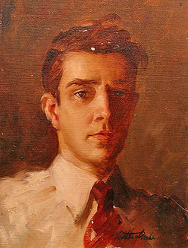 A Young Man In A Red Tie