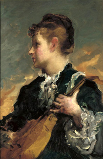 A Young Woman With A Guitar