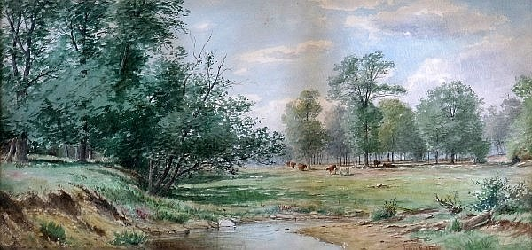 Landscape With Grazing Cows