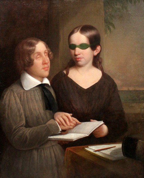 Laura Bridgman Teaching Oliver Caswell To Read