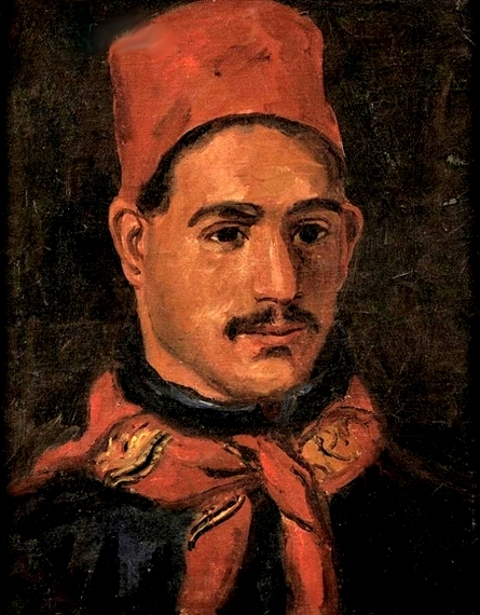 Man Wearing A Red Fez