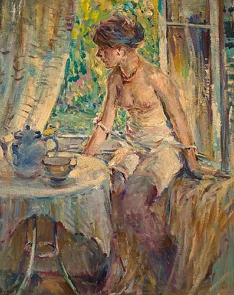 Seated Nude At Tea