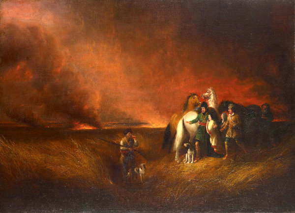 The Prairie On Fire (from James Fenimore Cooper's The Prairie)