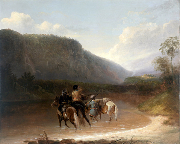 Trappers Discover The Smoke Of An Indian Camp In The Distance