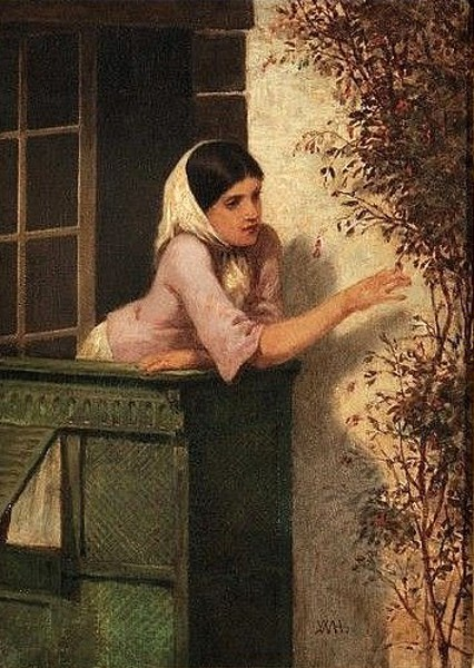 Young Woman On A Balcony