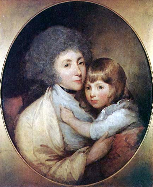 Lady Luke White And Her Son