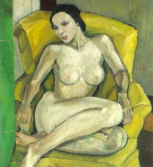 Nude In A Yellow Chair