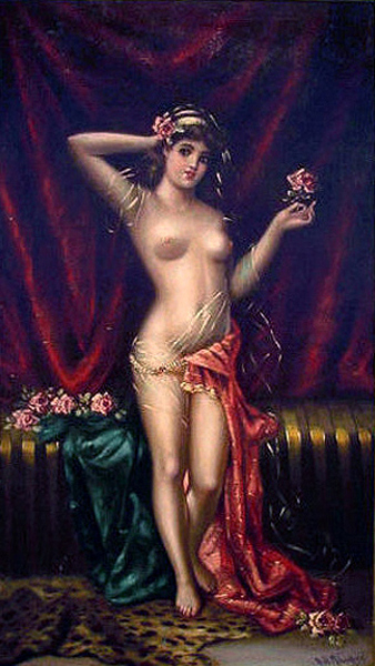 Young Beauty Holding A Rose