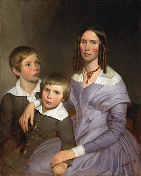 A Lady With Her Two Sons