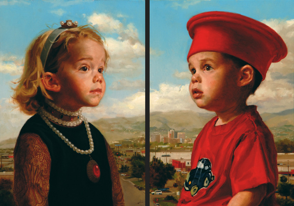 Ady And Chase Of Salt Lake City (after Piero Della Francesca)