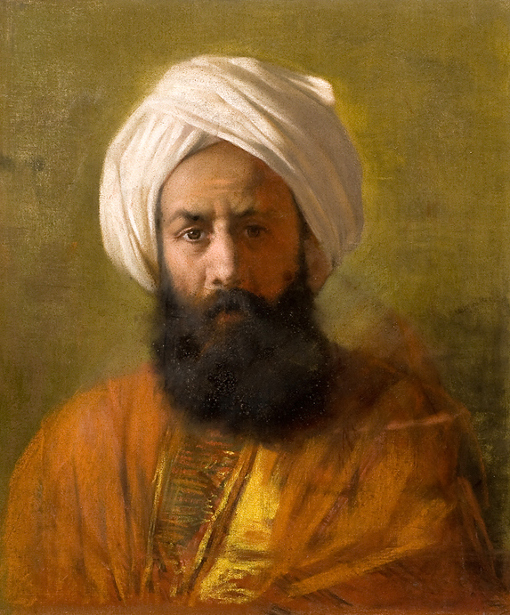 Bearded Man In A White Turban