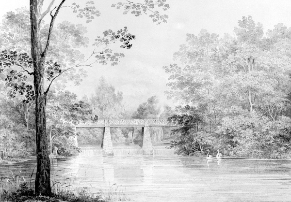 Bridge Over Crumelbow Creek, David Hosack Estate, Hyde Park, New York
