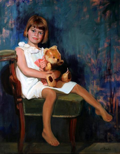 C.C. With Teddy Bear