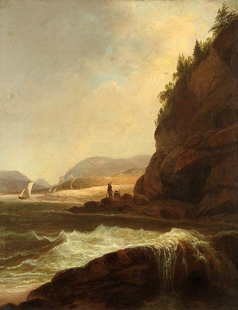 Figures By A Rocky Inlet