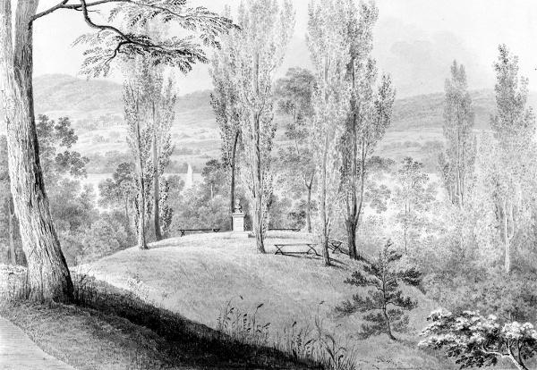 Grove Of Poplars With A Memorial Bust, David Hosack Estate, Hyde Park, New York