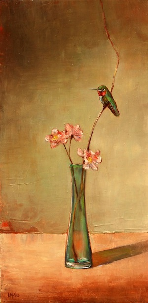 Hummingbird And Peach Blossom