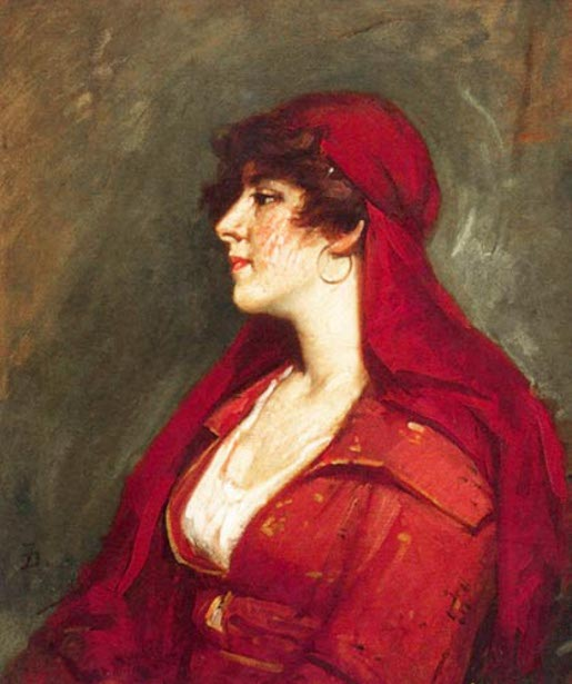 Lady In A Red Dress