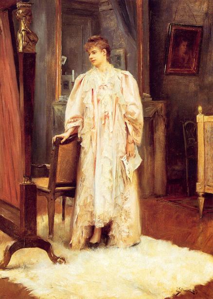 Lady In Her Boudoir