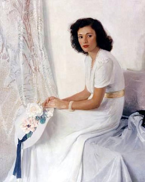 Lady In White - Portrait Of The Artist's Daughter-in-Law