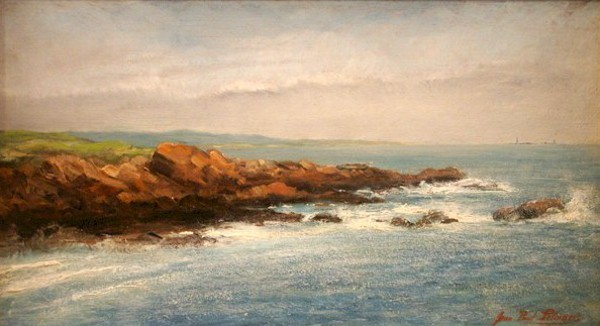 Massachusetts Coastal Scene With Lighthouse