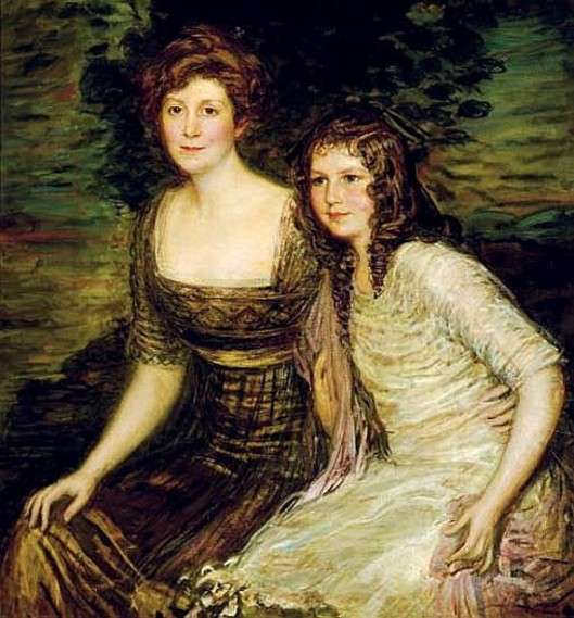 Mrs. Newton Crain Blanchard (née Emily Barrett) And Daughter, Louise Blanchard - The Wife And Daughter Of The Governor Of  Louisiana