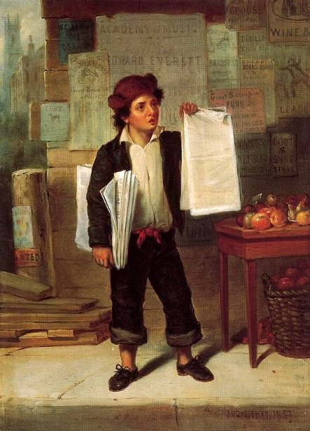 Newsboy Selling The New York Herald