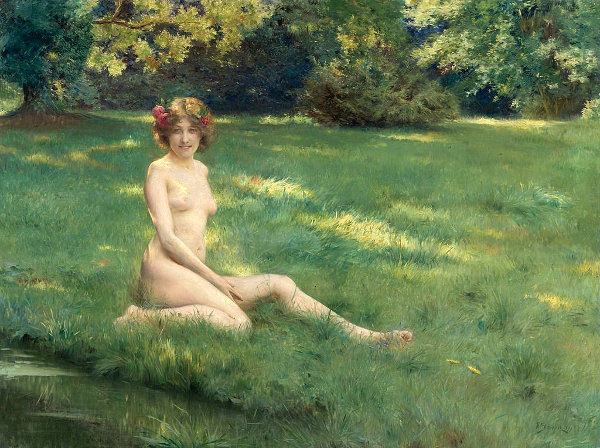 Nude On The Grass